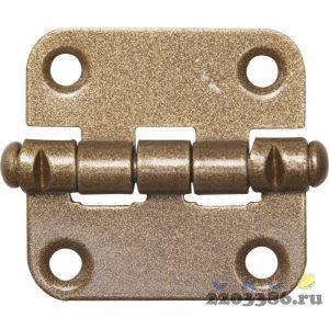 """Петля накладная стальная """"ПН-40"""", цвет бронзовый металлик, универсальная, 40мм"""