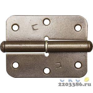 """Петля накладная стальная """"ПН-85"""", цвет бронзовый металлик, правая, 85мм"""
