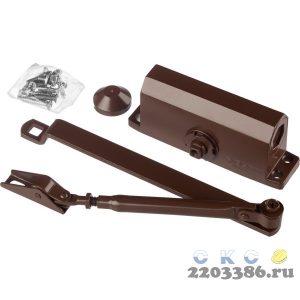 """Доводчик дверной ЗУБР """"Профессионал"""", для дверей массой до 40 кг, цвет коричневый"""
