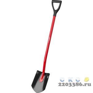 """Лопата """"МАСТЕР"""" штыковая, эргономичный стальной черенок, с рукояткой, ЗУБР"""