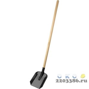 """Лопата """"МАСТЕР"""" совковая, ЛСП, деревянный черенок, ЗУБР"""