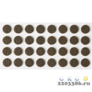 """Накладки STAYER """"COMFORT"""" на мебельные ножки, самоклеящиеся, фетровые, коричневые, круглые - диаметр 10 мм, 32 шт"""