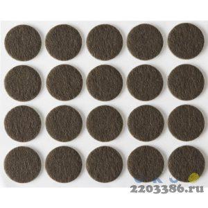 """Накладки STAYER """"COMFORT"""" на мебельные ножки, самоклеящиеся, фетровые, коричневые, круглые - диаметр 16 мм, 20 шт"""