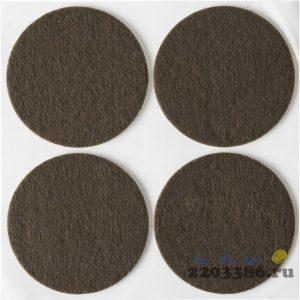 """Накладки STAYER """"COMFORT"""" на мебельные ножки, самоклеящиеся, фетровые, коричневые, круглые - диаметр 50 мм, 4 шт"""