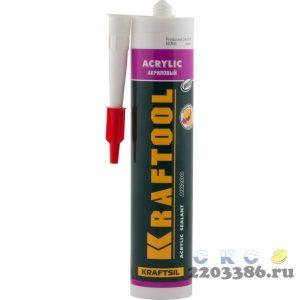 Герметик акриловый KRAFTOOL белый, 300мл