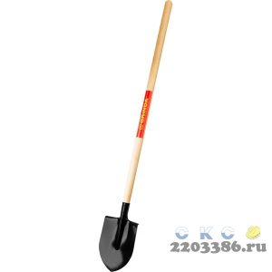 Лопата штыковая, деревянный черенок, GRINDA