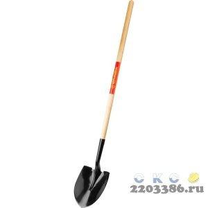 Лопата штыковая для земляных работ, деревянный черенок, GRINDA