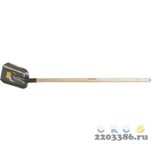 Лопата совковая, деревянный черенок, GRINDA