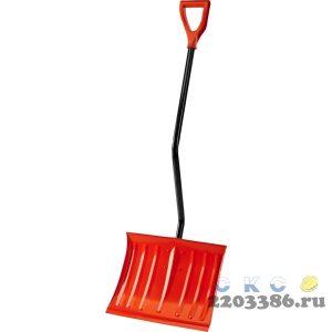 СИБИН ЛС-460 лопата снеговая стальная, с эргономичным стальным черенком, 460мм