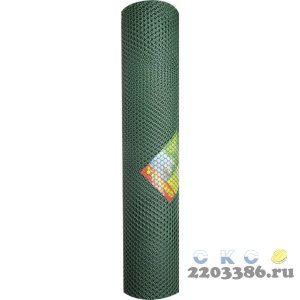 Решетка заборная Grinda, цвет хаки, 2х30 м, ячейка 32х32 мм