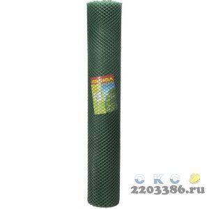 Решетка садовая Grinda, цвет хаки, 1,63х15 м, ячейка 18х18 мм