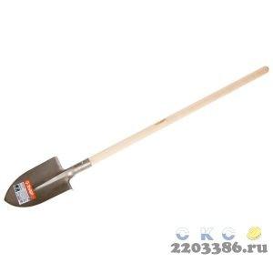 """Лопата """"ТИТАН"""" штыковая с деревянным черенком, ЗУБР Профессионал"""