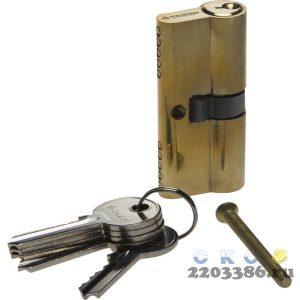 "Механизм ЗУБР ""МАСТЕР"" цилиндровый, тип ""ключ-ключ"", цвет латунь, 5-PIN, 60мм"
