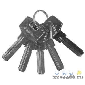 """Заготовка ключа ЗУБР """"ЭКСПЕРТ"""" для цилиндровых механизмов, компьютерный тип, 5 шт."""