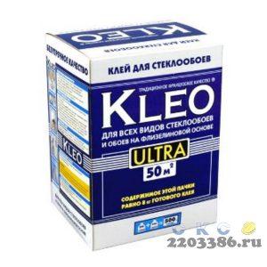 Клей обойный KLEO ULTRA 500г (12 шт/уп) для стеклообоев и обоев на флизелиновой основе на 50м2