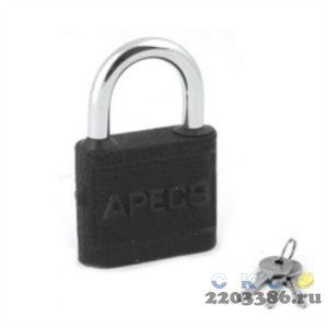 Замок навесной APECS PD-03-60, 60х92мм, d=9мм, автомат, 3 ключа (6)