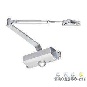 Доводчик дверной Apecs DC-20.3/0950/065-А1-SL серебро, до 65кг (10)