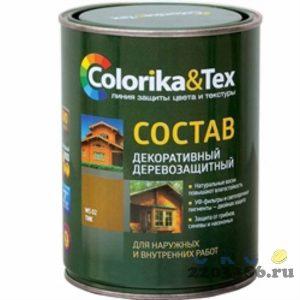 """Состав деревозащитный """"Colorika&Tex"""" макассар 0,8 л, 6шт/уп"""