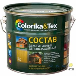 """Состав деревозащитный """"Colorika&Tex"""" бесцветный 2,7 л,  4шт/уп"""