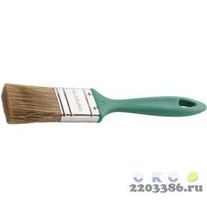 """Кисть плоская STAYER """"LASUR-EURO"""", смешанная (натуральная и искусственная) щетина, пластмассовая ручка, 38мм"""
