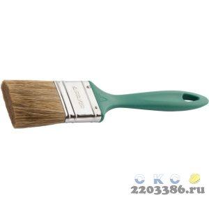"""Кисть плоская STAYER """"LASUR-EURO"""", смешанная (натуральная и искусственная) щетина, пластмассовая ручка, 50мм"""