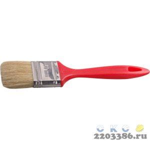 """Кисть плоская STAYER """"UNIVERSAL-EURO"""", светлая натуральная щетина, пластмассовая ручка, 50мм"""