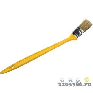 """Кисть радиаторная STAYER """"UNIVERSAL-MASTER"""", светлая натуральная щетина, пластмассовая ручка, 25мм"""