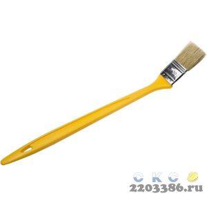 """Кисть радиаторная STAYER """"UNIVERSAL-MASTER"""", светлая натуральная щетина, пластмассовая ручка, 38мм"""