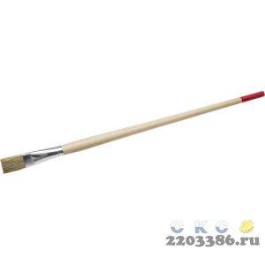 """Кисть круглая тонкая STAYER """"UNIVERSAL-STANDARD"""", светлая натуральная щетина, деревянная ручка, №18 x 20мм"""