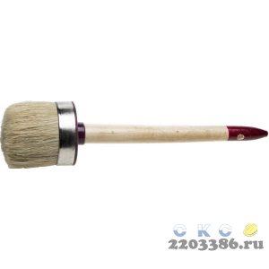 """Кисть круглая ЗУБР """"УНИВЕРСАЛ - МАСТЕР"""", светлая щетина, деревянная ручка, №12, 45мм"""