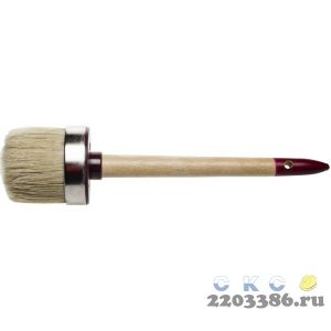 """Кисть круглая ЗУБР """"УНИВЕРСАЛ - МАСТЕР"""", светлая щетина, деревянная ручка, №20х65мм"""