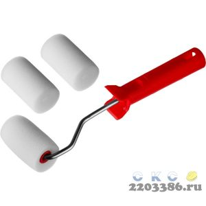 """Валик """"ПОРОЛОН"""" в наборе: 3 шубки + ручка, 65 мм, d=40 мм, MIRAX"""