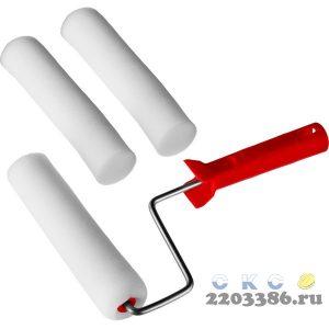 """Валик """"ПОРОЛОН"""" в наборе: 3 шубки + ручка, 180 мм, d=40 мм, MIRAX"""