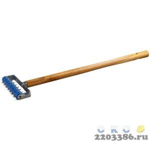 Валик игольчатый STAYER для гипсокартона в сборе, металлические иглы, ручка 500мм, 32х150мм