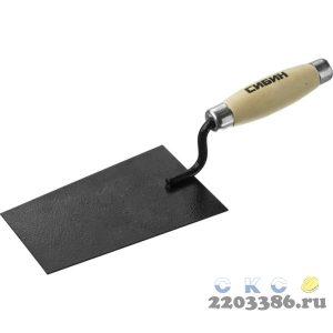 Кельма отделочника СИБИН с деревянной усиленной ручкой, КО
