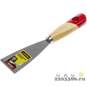 """Шпательная лопатка STAYER """"MASTER"""" c деревянной ручкой, 40 мм"""