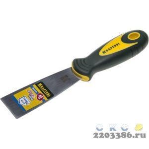Шпательная лопатка KRAFTOOL с 2-компонент ручк, профилиров нержав полотно, 40мм