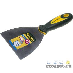Шпательная лопатка KRAFTOOL с 2-компонент ручк, профилиров нержав полотно, 125мм