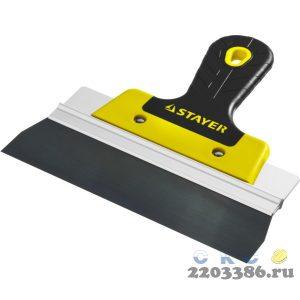ProFlat фасадный шпатель анодированный 200 мм, 2к ручка, STAYER