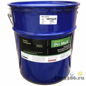 Эмаль ПФ-115 черная ( по 25 кг) ГОСТ-Р