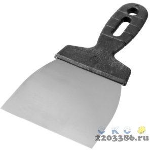 """Шпатель ЗУБР """"МАСТЕР"""" нержавеющее полотно, 100мм"""