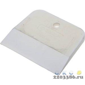 """Шпатель ЗУБР """"МАСТЕР"""" резиновый, белый, 1шт, 100мм"""
