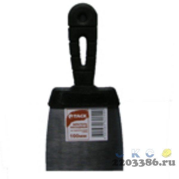 Шпатель фасадный из нержавеющей стали, с пласт.ручкой 25см (12/уп) TACK 584208
