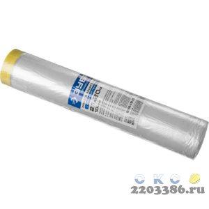 """Пленка ЗУБР """"ПРОФЕССИОНАЛ"""" защитная с клейкой лентой, HDPE, 10мкм, 2,1х20м"""