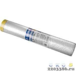 """Пленка ЗУБР """"ПРОФЕССИОНАЛ"""" защитная с клейкой лентой, HDPE, 10мкм, 2,4х20м"""