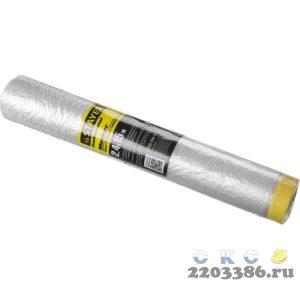 """Пленка STAYER """"PROFESSIONAL"""" защитная с клейкой лентой """"МАСКЕР"""", HDPE, 9мкм, 2,4х15м"""