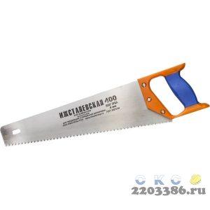 """Ножовка """"ИЖ"""" """"ПРЕМИУМ"""" по дереву с двухкомпонентной пластиковой рукояткой, шаг 4мм, 400мм"""