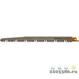 """Полотно ЗУБР """"ЭКСПЕРТ"""" S1531L к саб эл.ножов Cr-V,спец закал зуб,быстр. грубый рез,тв. и мягк. дерев, 210/5-6,5мм"""