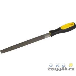 """Напильник STAYER """"PROFI"""" полукруглый, с двухкомпонентной рукояткой, № 2, 200мм"""