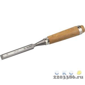 ЗУБР Классик стамеска-долото с деревянной рукояткой, 18мм